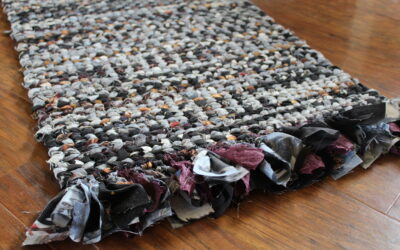 How To Weave a Rag Rug With Fringe Bottom