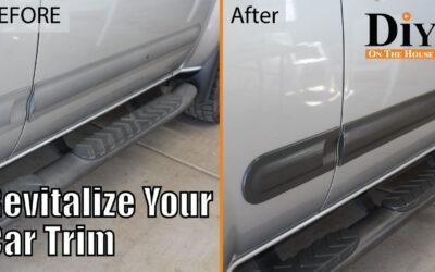 Easy Fix for Faded Plastic Car Trim!