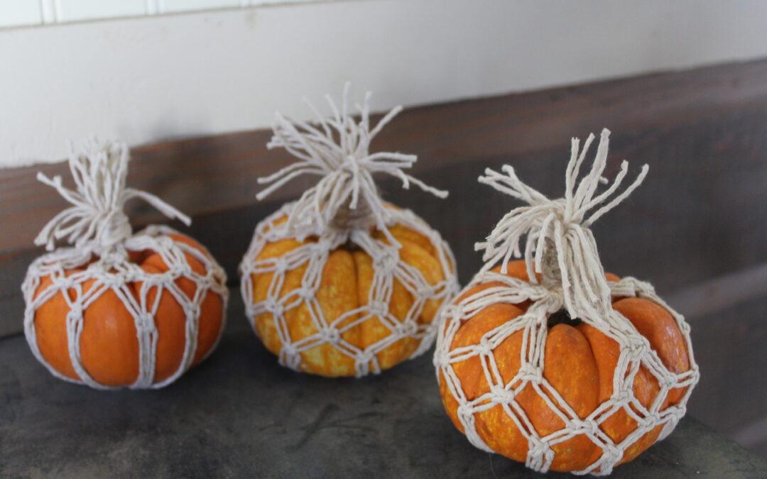 Macrame Crafts For Fall – CUTE Pumpkin Crafts!