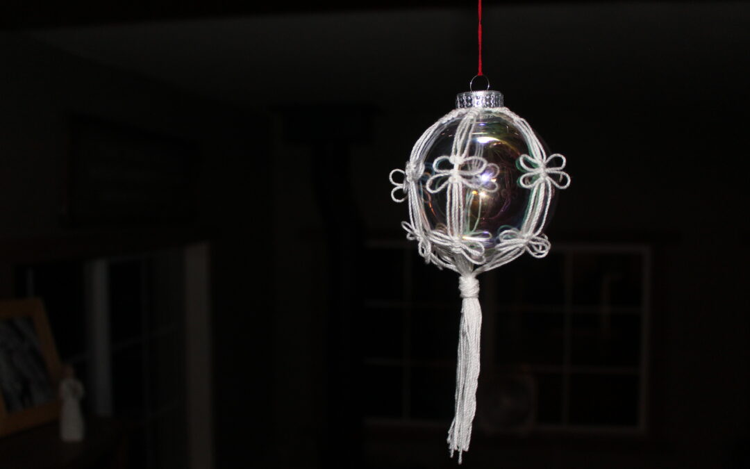 Unique Macrame Christmas Ornament
