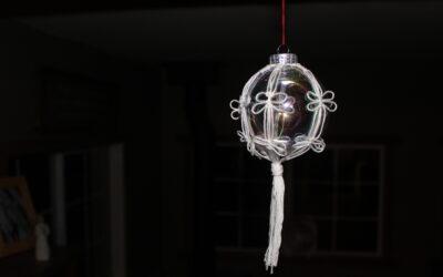 Unique Macrame Christmas Ornament