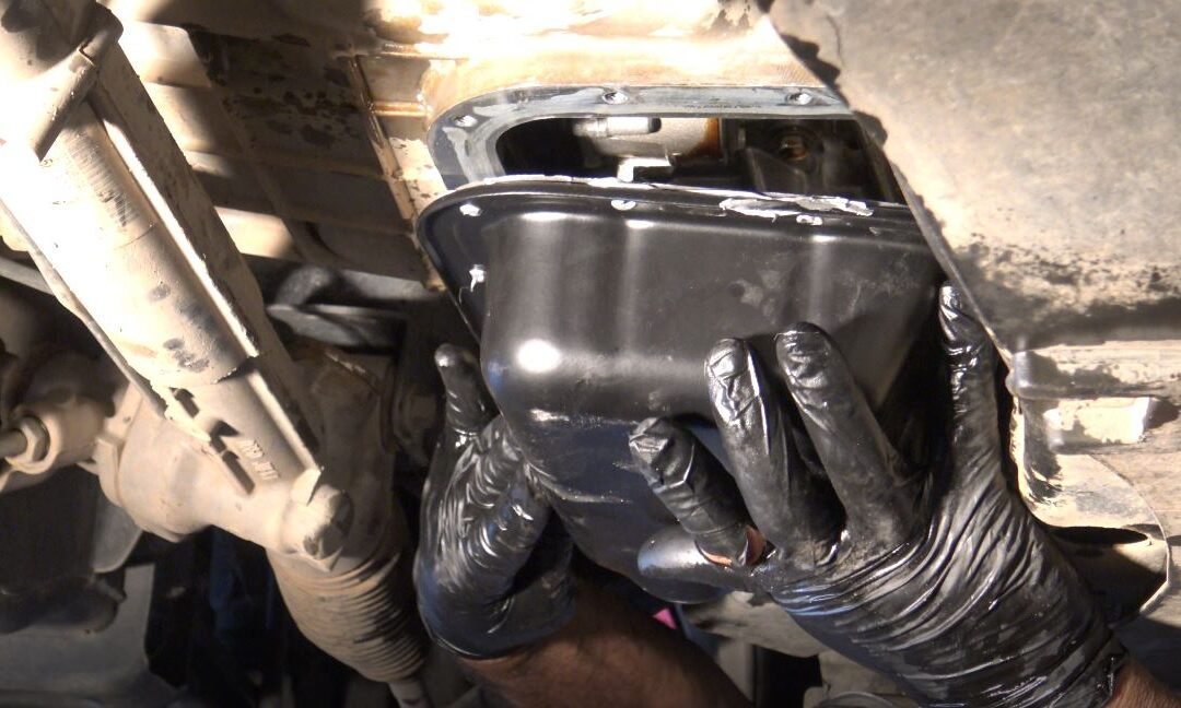 Change Oil Pan Gasket – How to Remove an Oil Pan that is Stuck