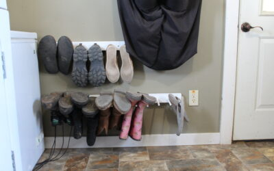 Hanging Shoe Rack Idea