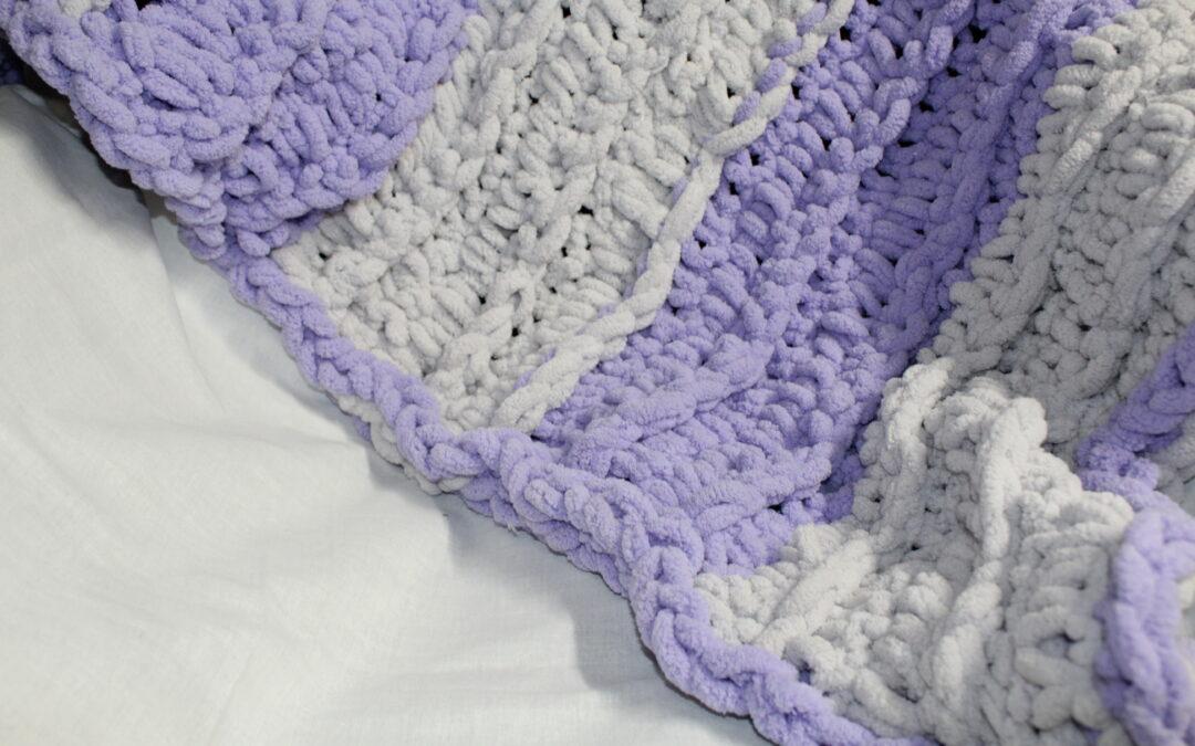 Baby Blanket – NO KNIT – NO CROCHET